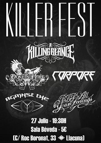 KILLER FEST – 27 de julio en la Sala Bóveda