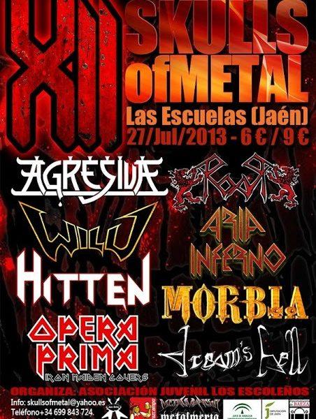XII SKULLS OF METAL FESTIVAL este próximo sábado día 27