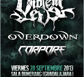 VIOLENT EVE + OVERDOWN + CORPORE el 20 de septiembre en Guadalajara