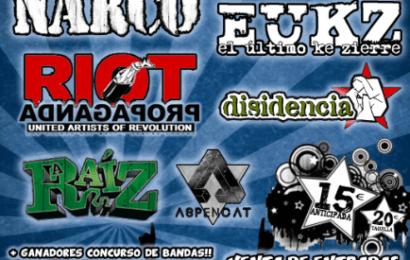 Cartel del MAREAROCK FESTIVAL 2013 en Aspe (Alicante)