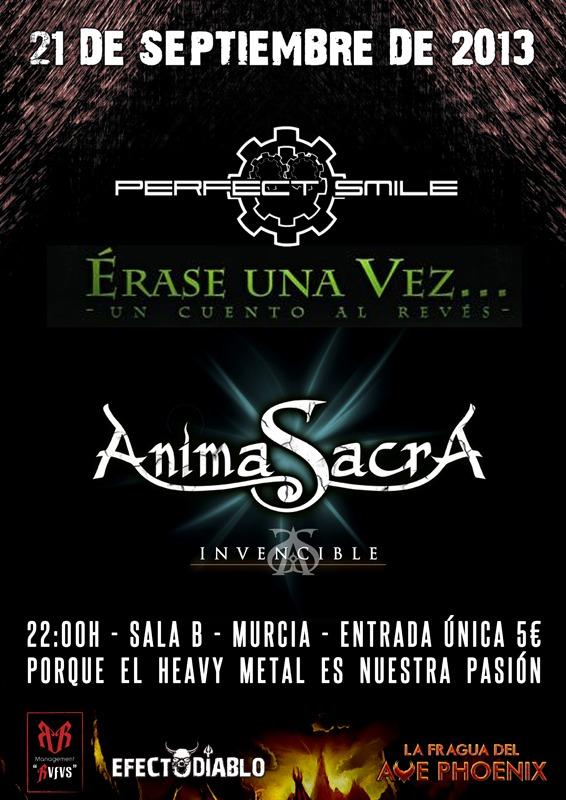 PERFECT SMILE + ANIMA SACRA concierto el día 21 de septiembre