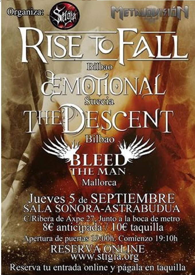 RISE TO FALL en Erandio