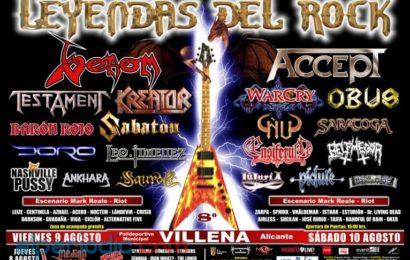 LEYENDAS DEL ROCK – Villena (Alicante) – 09/08/13