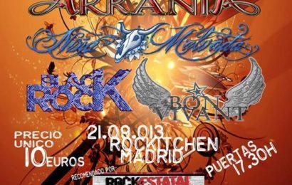 Festival LA NOCHE DEL ROCK, 21 de septiembre en Madrid