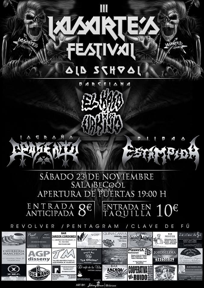 LASARTE´S FESTIVAL – 23 de noviembre en Barcelona