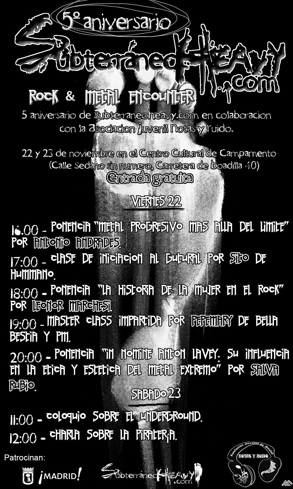 5to Aniversario de Subterráneo Heavy – Viernes 22 de noviembre