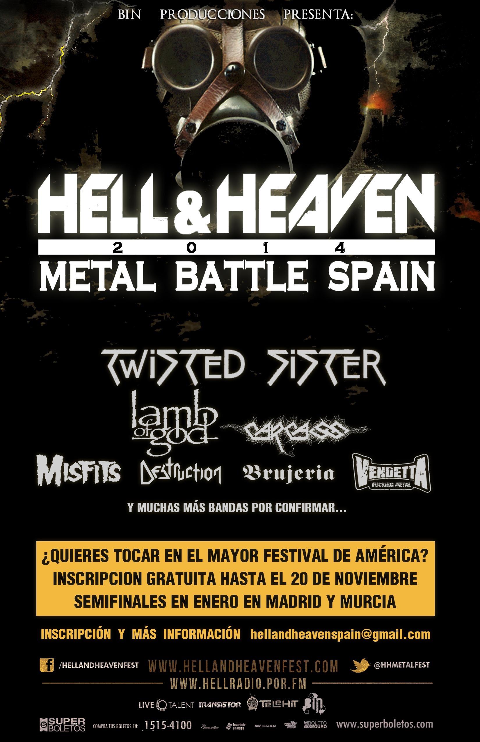 Bandas inscritas al Metal Battle Spain del Hell And Heaven Metal Fest