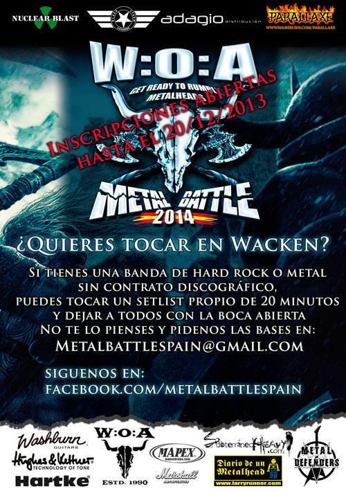 Nuevo comunicado de la WOA Metal Battle Spain