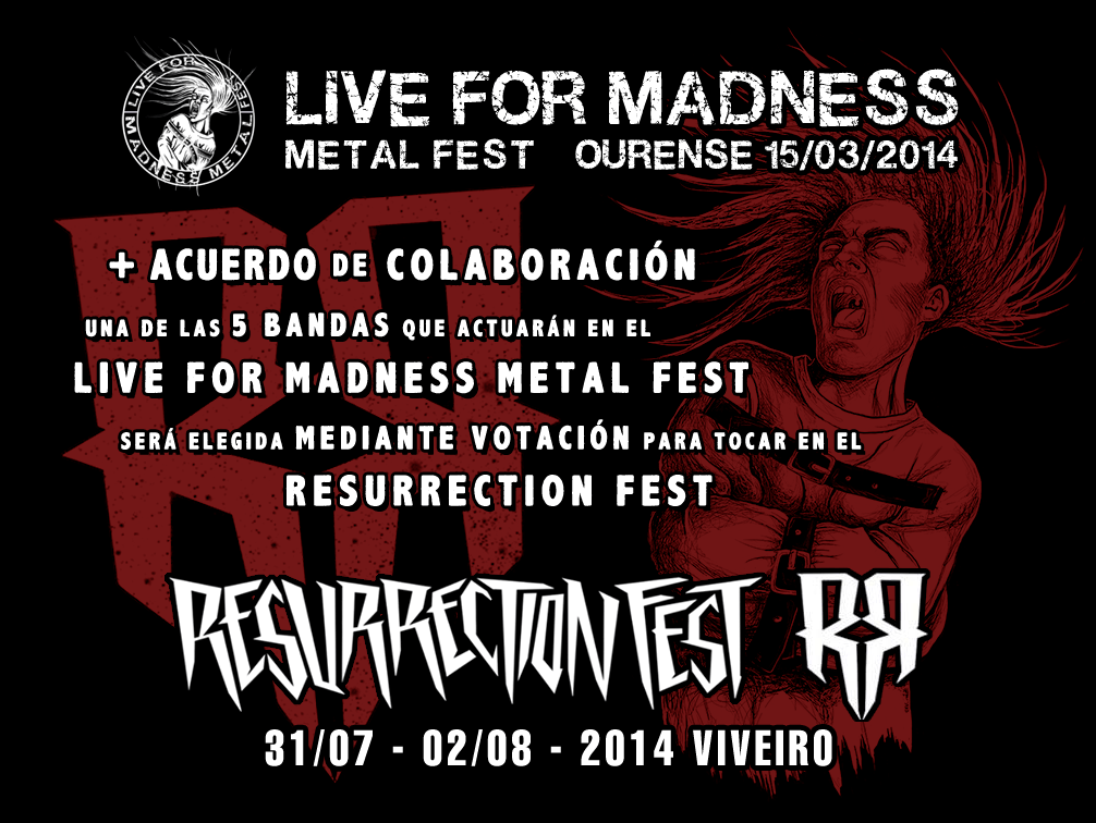 LIVE FOR MADNESS METAL FEST – AIRLESS – NOHMADA