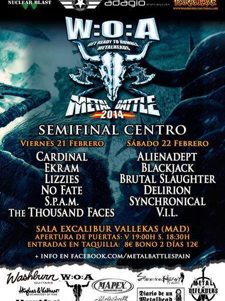 Semifinal Centro WOA Metal Battle – Madrid – 21/02/14