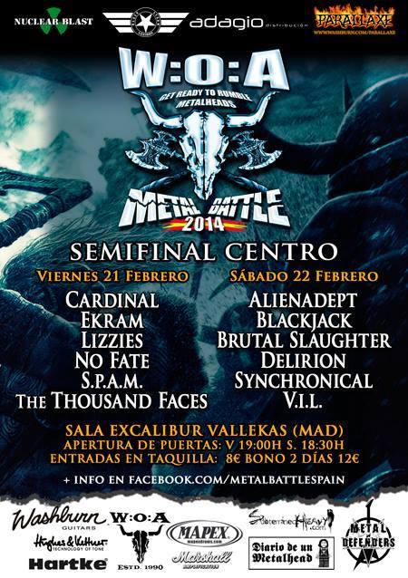 Semifinal Centro WOA Metal Battle – Madrid – 22/02/14