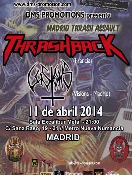 THRASHBACK (FRA) – THE THOUSAND FACES – II METAL DAMNATION FEST