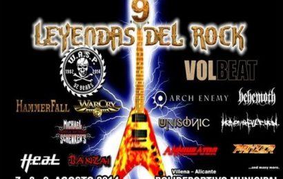 IX LEYENDAS DEL ROCK – 7, 8 y 9 de agosto, Villena (Alicante)