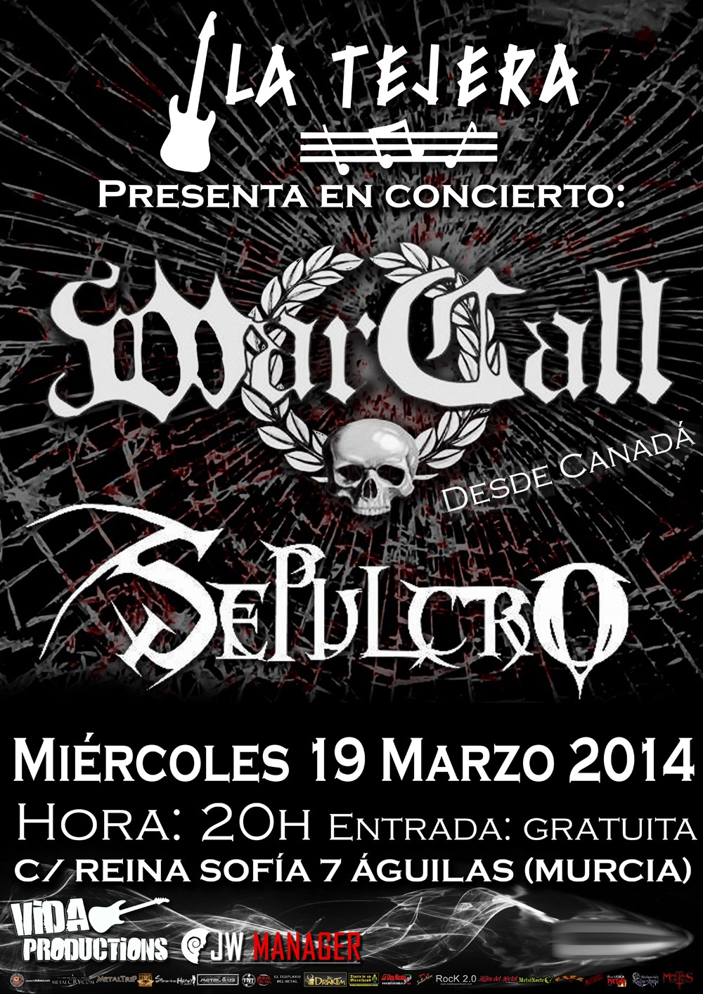 WARCALL (CAN) + SEPULCRO – Tejera Rock Festival – KHROMA