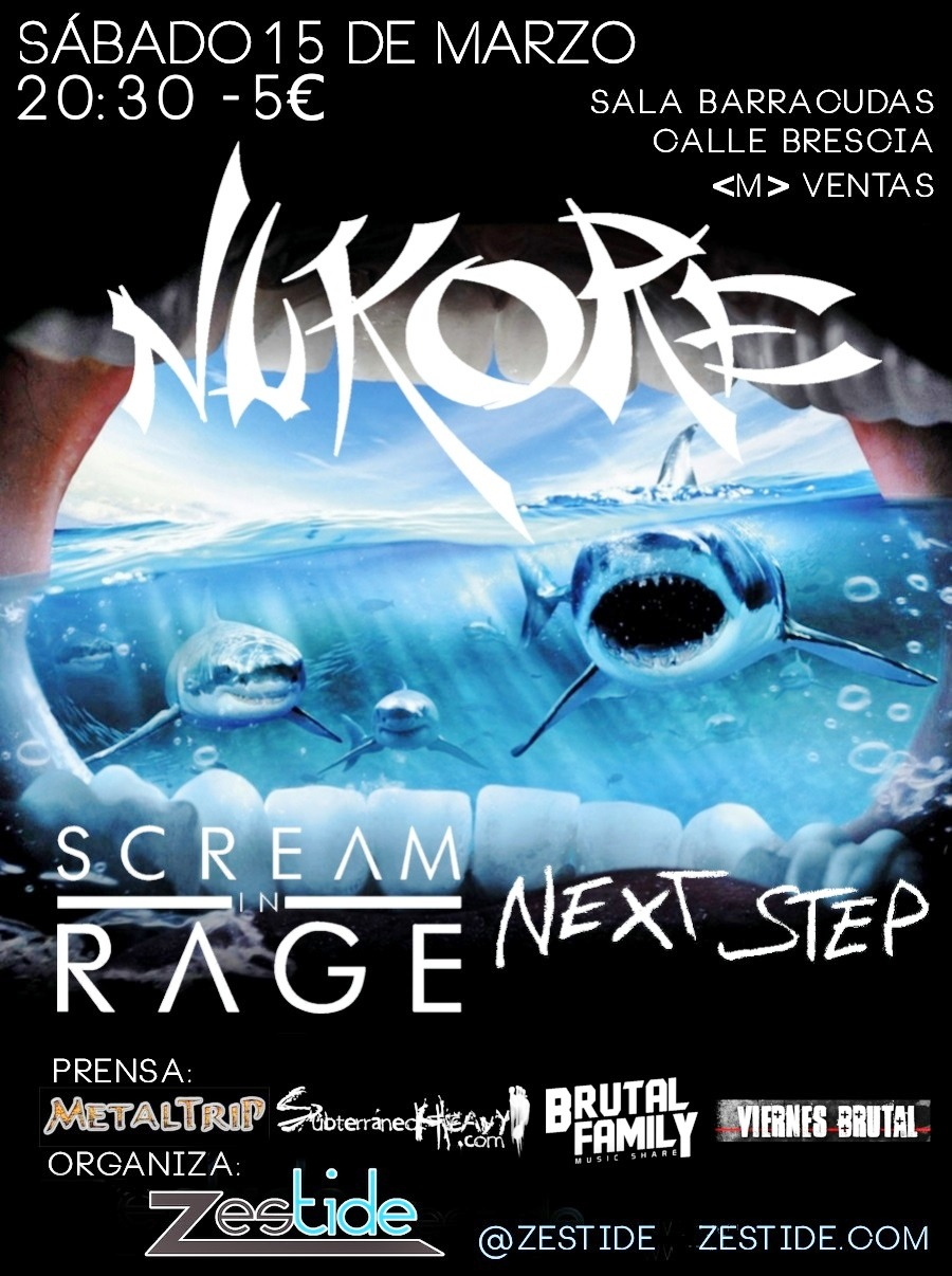 Concurso: Concierto NUKORE + SCREAM IN RAGE + NEXT STEP