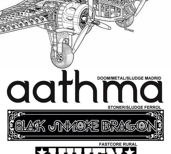 AATHMA + BLACK SMOKE DRAGON + VIVEN – Pontevedra – 12/04/14