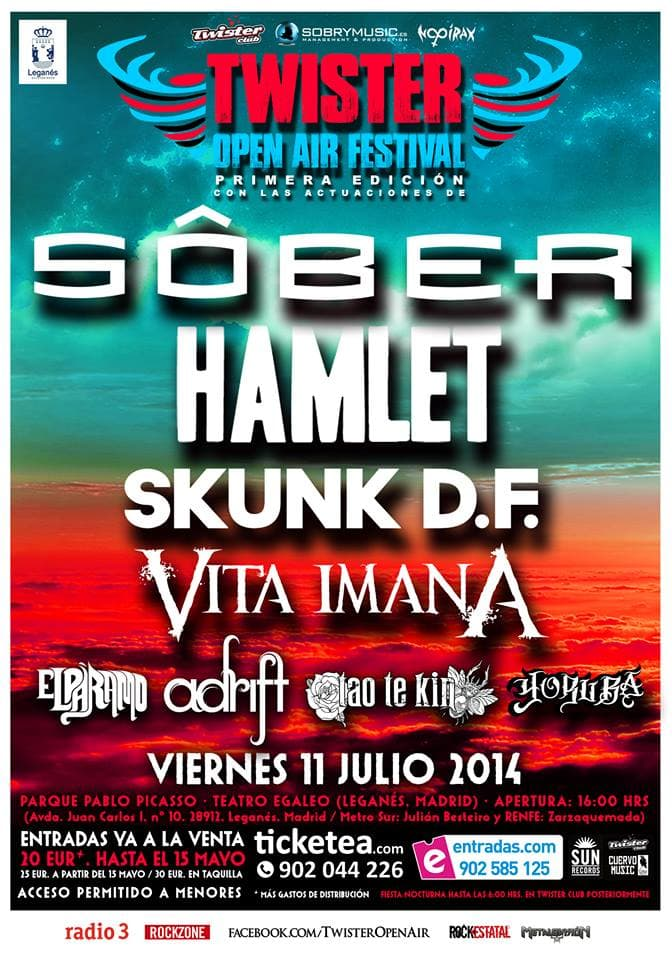 TWISTER OPEN AIR FESTIVAL – Leganés – 11/07/14