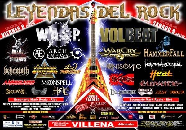 LEYENDAS DEL ROCK 2014 – Viernes 08/08/14