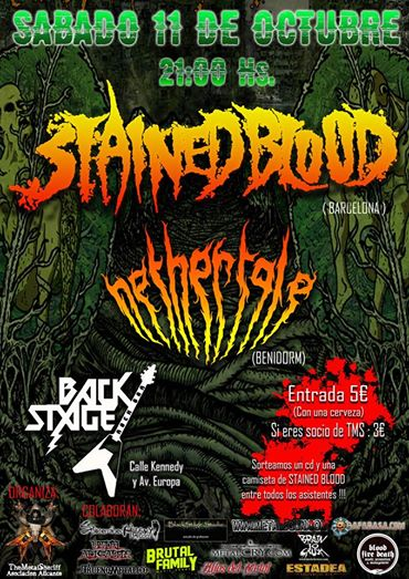NETHERTALE + STAINED BLOOD – Benidorm, 11/10/14