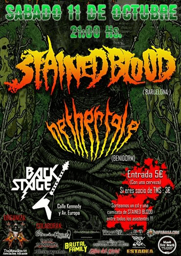 Este sábado en Benidorm: STAINED BLOOD + NETHERTALE