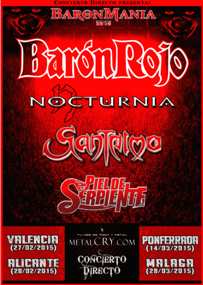 BARÓN ROJO – Fan metal show – MIND DRILLER