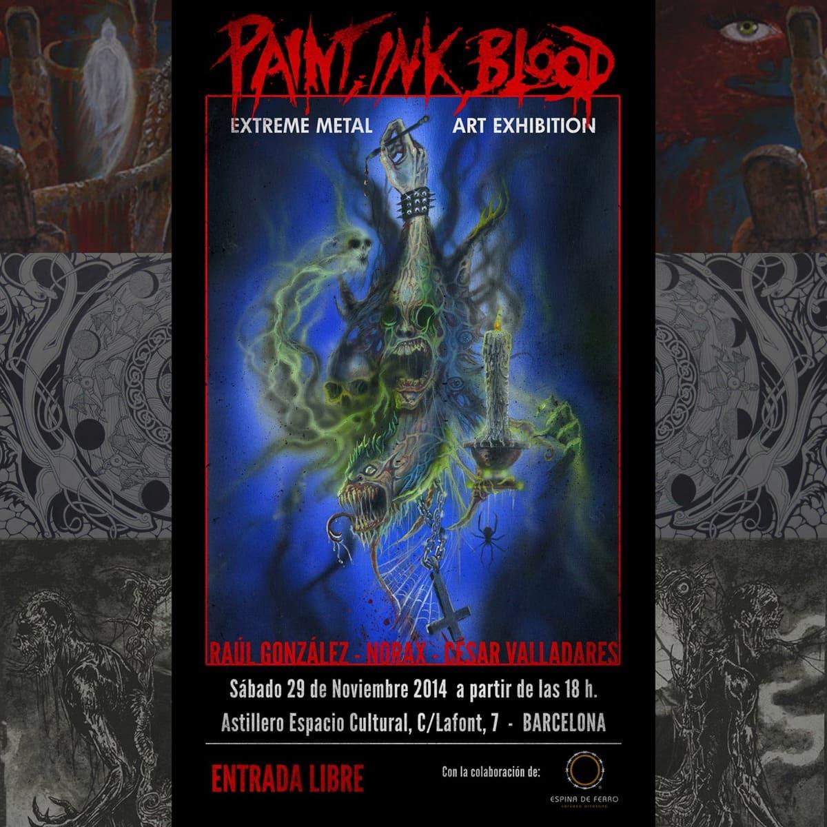 Paint, ink, blood: Extreme metal art exhibition (29 de noviembre, Barcelona)