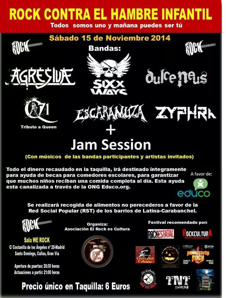 AGNUSDEY – Rock´Antena Roll – Festival Rock contra el hambre infantil