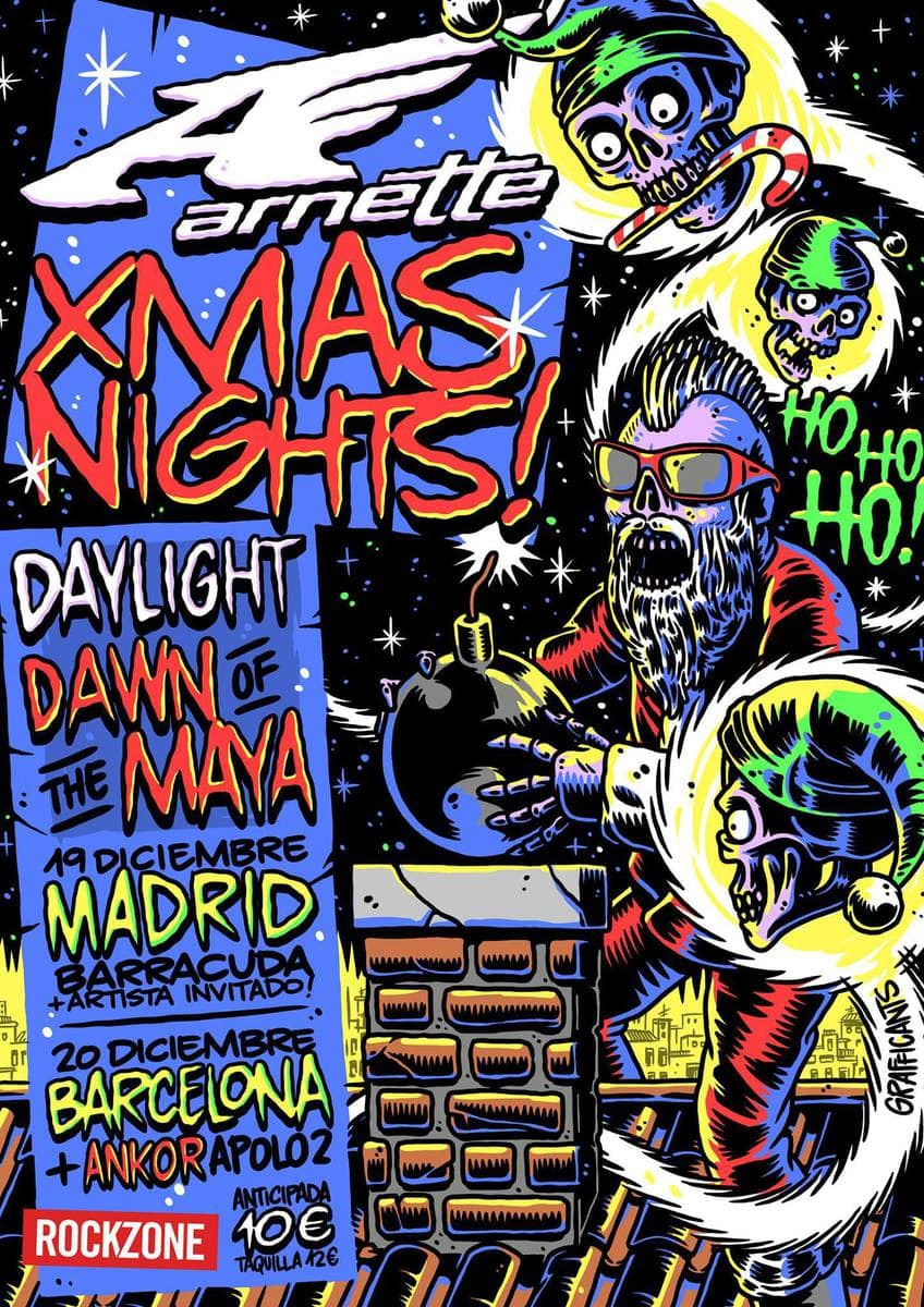 DAWN OF THE MAYA + DAYLIGHT + DAYS OF HEROES – Madrid – 19/12/14