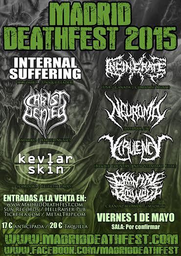 Madrid DeathFest 2015, viernes 1 de mayo