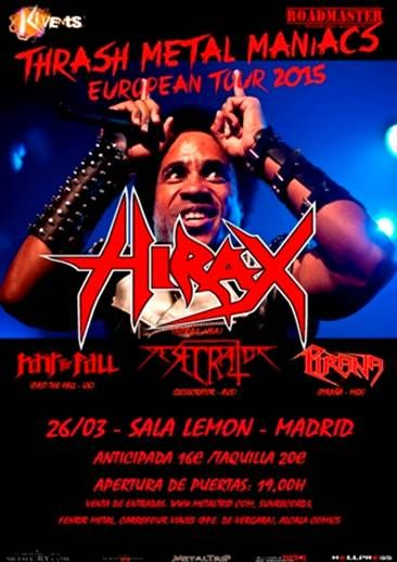 HIRAX (USA) – I Scream for the zombie fest – ORAKLE (FRA)