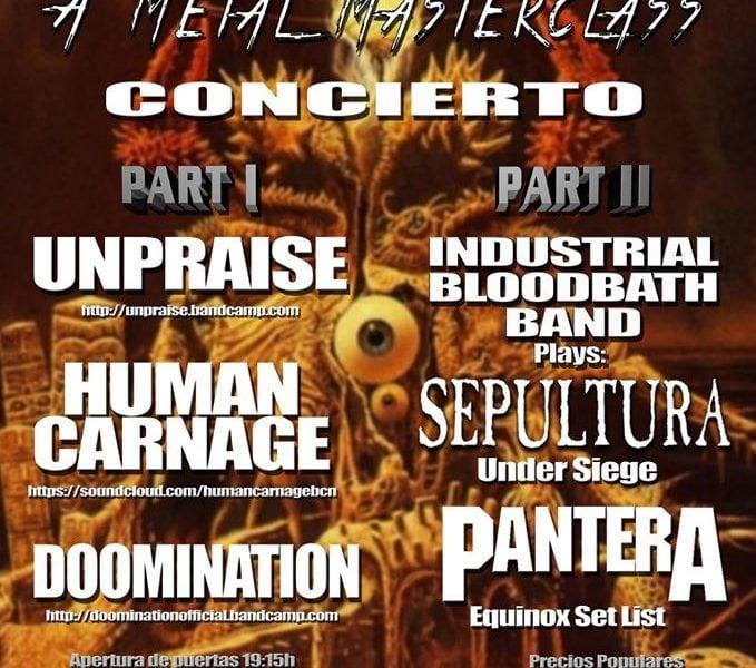 Industrial bloodbath fest IV – Quinta justa management – TAO + LAGUNA