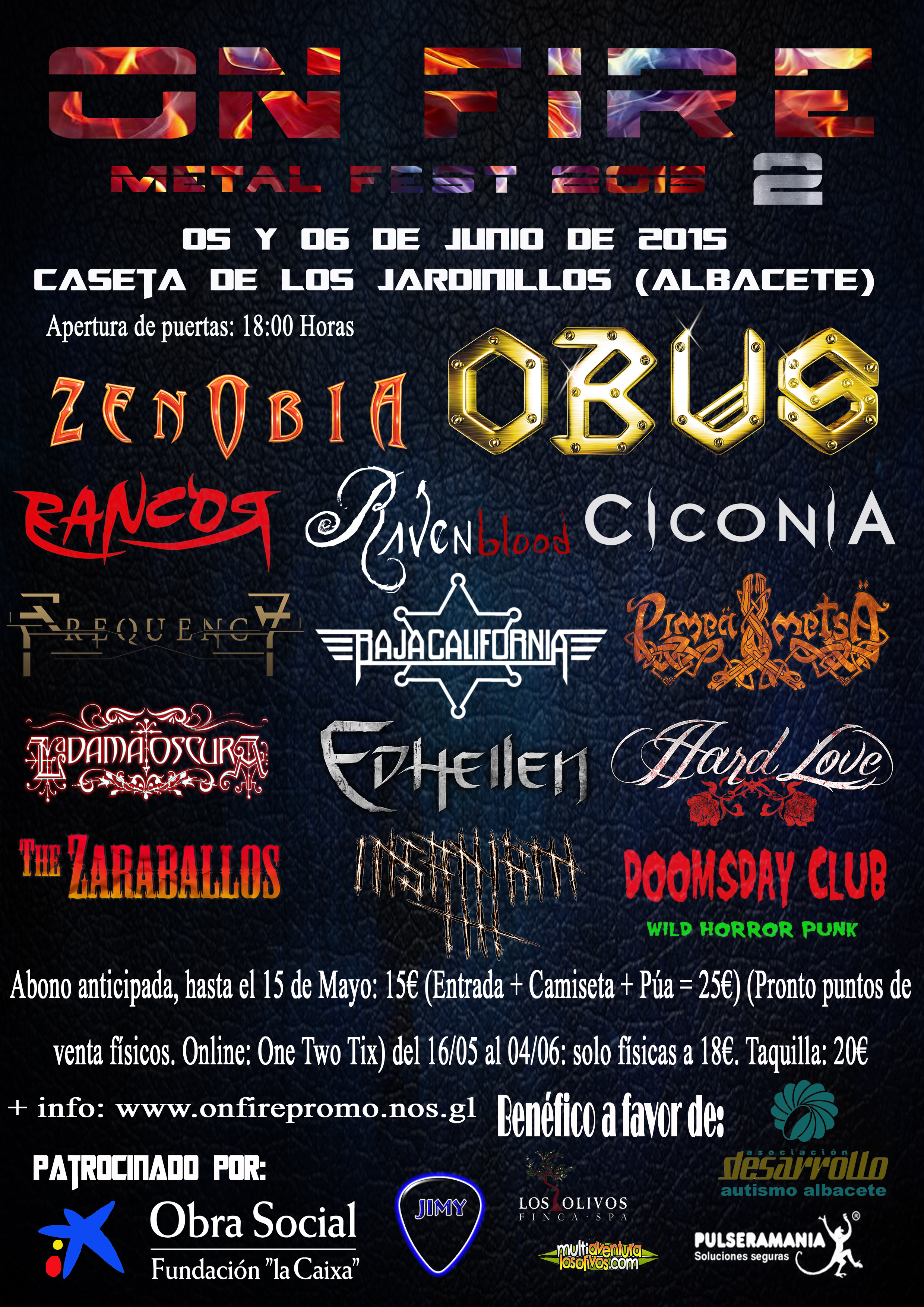 Cartel completo del ON FIRE METAL FEST 2