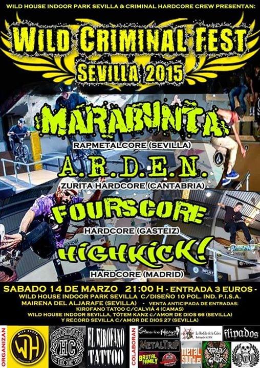 Wild Criminal Fest Sevilla 2015 – Mairena del Aljarafe – 14/03/15