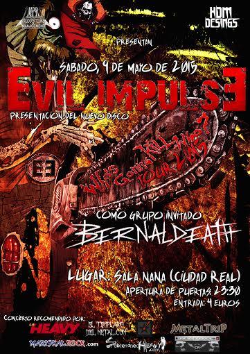 EVIL IMPULSE presenta su nuevo disco en Ciudad Real