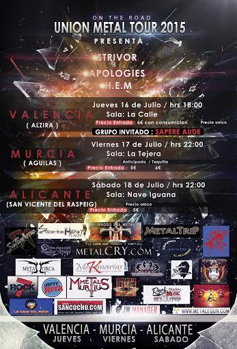 Mini tour de APOLOGIES: Union Metal Fest