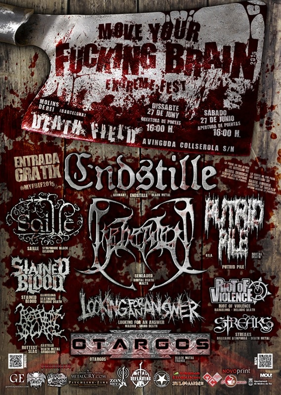 Cartel completo del MOVE YOUR FUCKING BRAIN EXTREME FEST