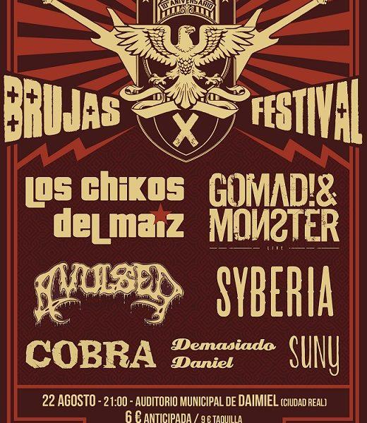 X edición del Brujas Festival el 22 de agosto