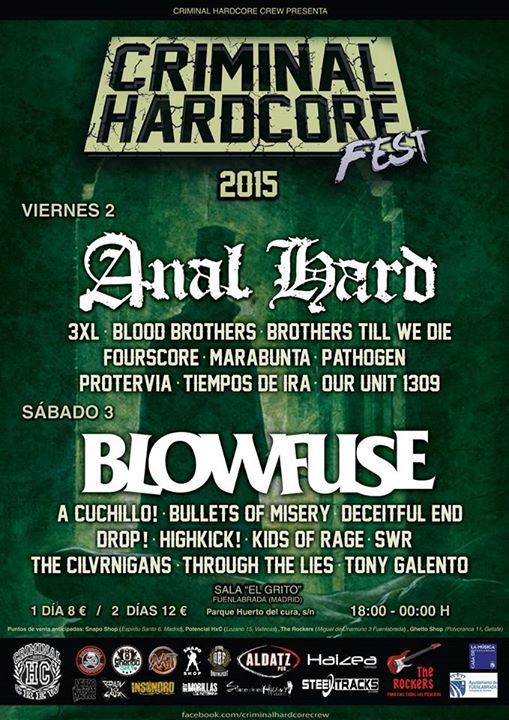 Novedades Criminal Hardcore Fest 2015