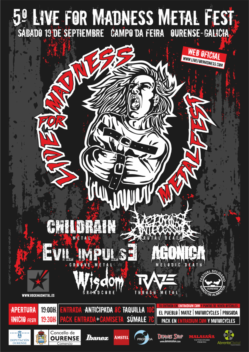 V LIVE FOR MADNESS METALFEST – Ourense – 19/9/2015