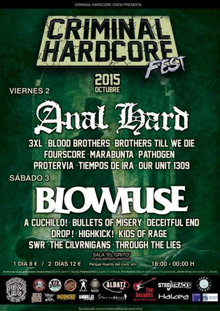Criminal Hardcore Fest – Fuenlabrada – 2 y 3/10/2015