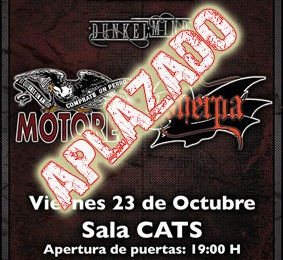 ¡ULTIMA HORA! Aplazado concierto SHERPA, MOTORES y DUNKELMIND en Madrid