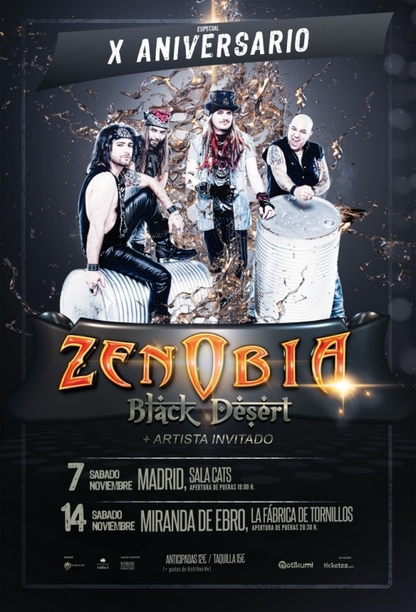 ZENOBIA – LEATHER HEART – SCREAMER  (SWE)