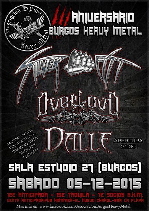 III aniversario Burgos heavy metal – ASHES 2 ASHES – HYPOCRAS (CHE)