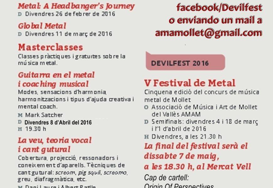 Fecha límite para inscribirse al Devilfest 2016