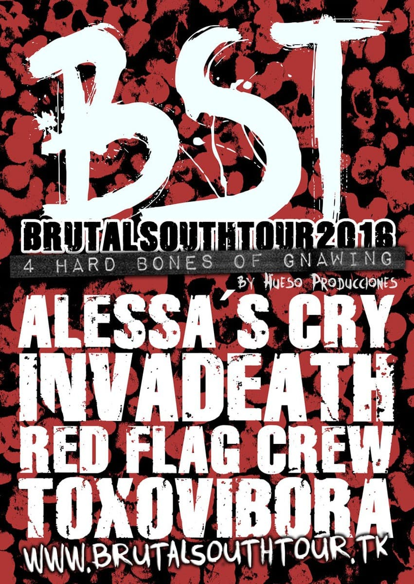 Brutal South Tour 2016 – INVISIBLE – TASTE MY SWEET REVENGE