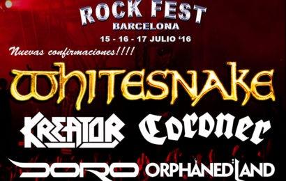 Nuevas confirmaciones para el ROCK FEST BARCELONA 2016