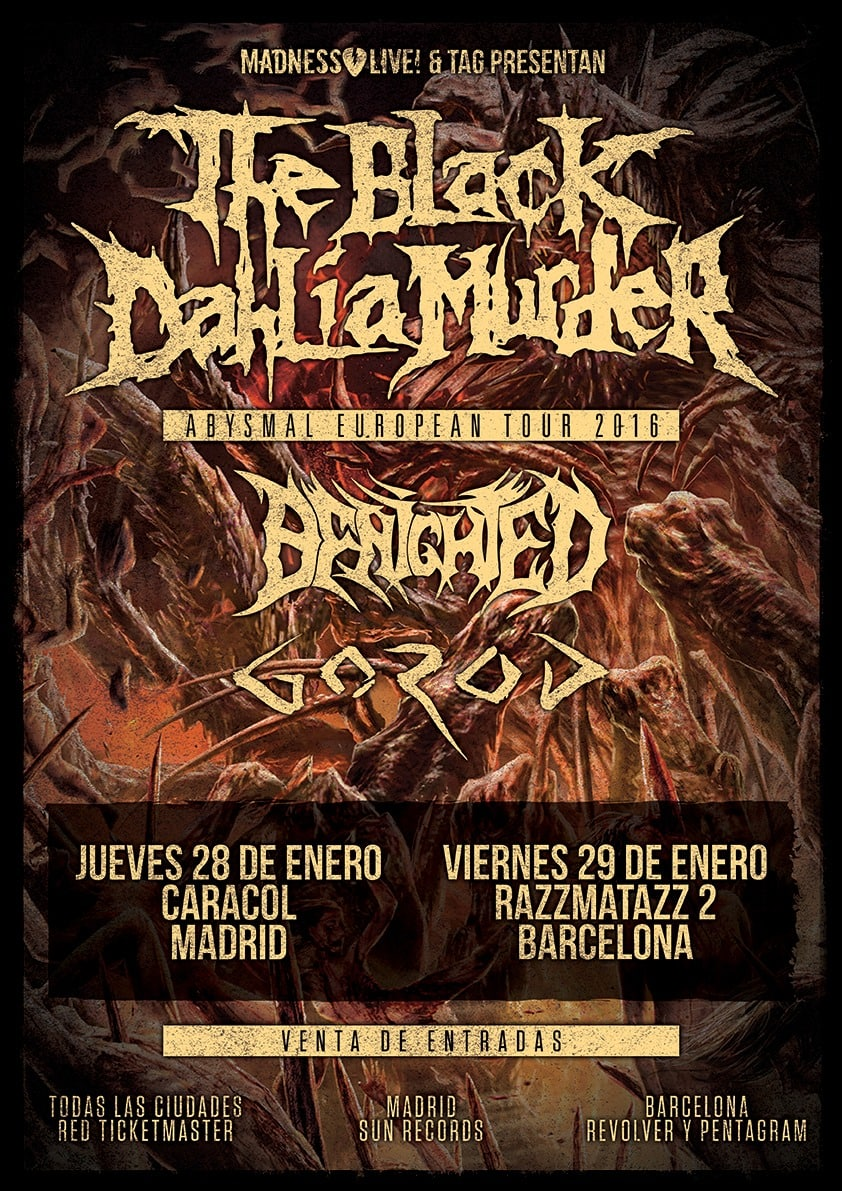 THE BLACK DAHLIA MURDER (USA) – THE LION'S DAUGHTER (USA) – ASTAFIX (BRA)