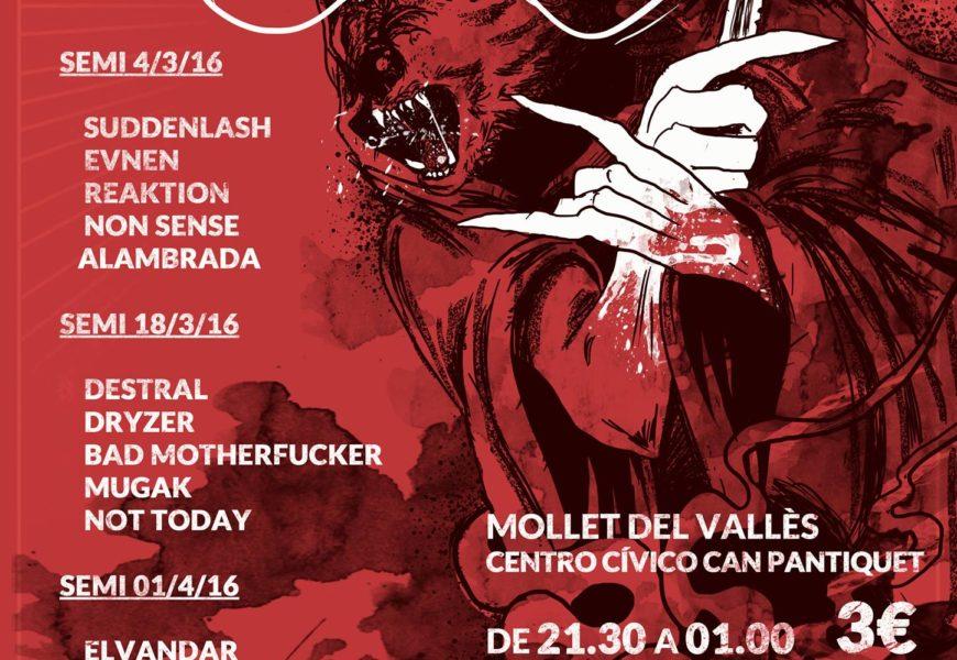 Cartel oficial de las semifinales del DevilFest 2016