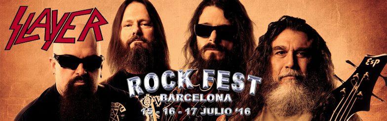 Rock Fest Barcelona anuncia a SLAYER para el festival
