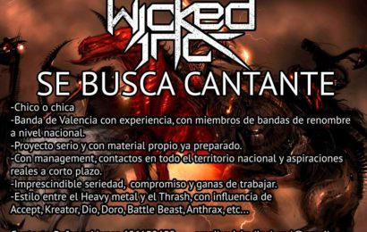 WICKED INC. busca cantante